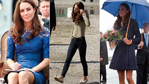 Kanada-Reise: Herzogin Catherine erschreckend dünn! (Bild: EPA)