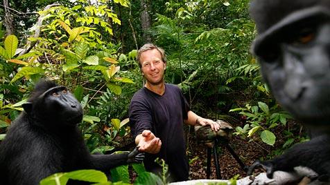 Makake schießt mit geklauter Kamera witzige Bilder (Bild: Caters News Agency/David Slater)