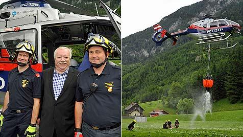 Wien sponsert in NÖ Lösch-Equipment für Schutzgebiet (Bild: APA/ALEXANDRA KROMUS/PID)