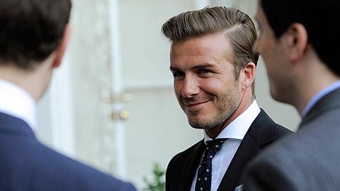 David Beckhams erstes Töchterchen heißt Harper Seven (Bild: AP)