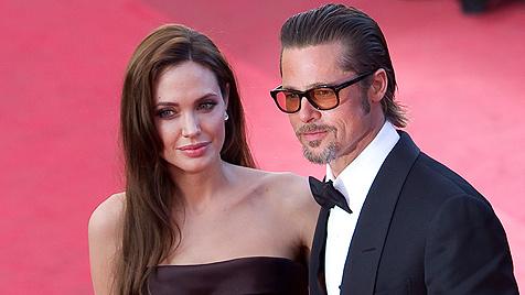Jolie und Pitt stehen angeblich kurz vor ihrer Hochzeit (Bild: EPA)