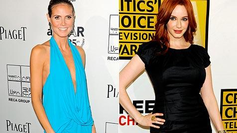 Kurvig wie Christina oder dürr wie Heidi - was ist schöner? (Bild: AP)