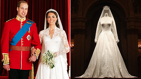 Hochzeitskleid wird im Buckingham-Palast ausgestellt (Bild: EPA, AP)