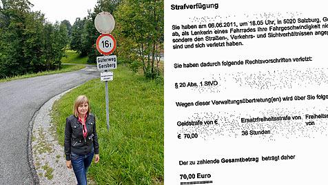 Studentin soll nach Fahrradsturz 70 Euro Strafe zahlen (Bild: Markus Tschepp)