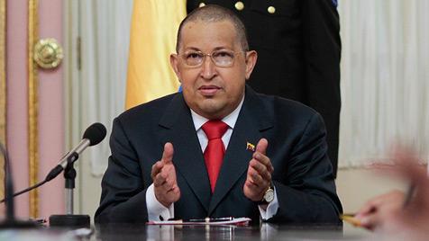 Chavez spricht von schneller Genesung nach Tumor-OP (Bild: EPA)