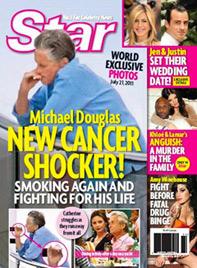 Er hatte Krebs - und trotzdem raucht Michael Douglas (Bild: Star Magazine)