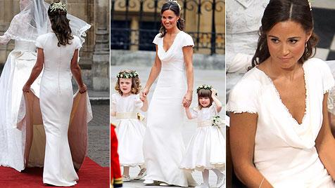 """G""""riss um Kopie von Pippa Middletons Brautjungfernkleid (Bild: AP)"""