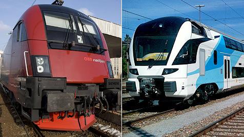 Ab Dezember: Drei Schnellzüge pro Stunde nach Wien (Bild: EPA, Westbahn GesmbH)