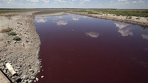 Blutroter See löst in den USA Panik vor Weltuntergang aus (Bild: AP)