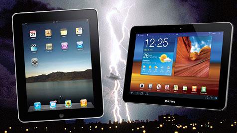 Samsung darf sein Galaxy Tab in der EU nicht verkaufen (Bild: thinkstockphotos.de, Apple, Samsung)