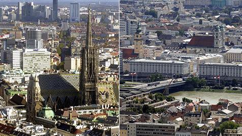 Wien und Linz: Zwei Städte, gleich vier Finanzkrisen (Bild: APA/Barbara Gindl/Roland Schlager)