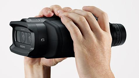 Weltweit erstes digitales Fernglas mit Full-HD-Video (Bild: Sony)
