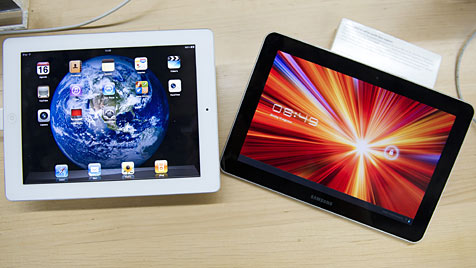 Apple: Google kritisierte iPad-Kopie von Samsung (Bild: EPA)