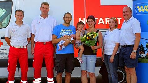 Hilfe bei Geburt in Niederösterreich per Telefon (Bild: Rotes Kreuz Korneuburg/Helmut Riemer)