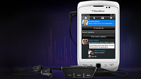 Neuer Blackberry-Dienst: Musik teilen und tauschen (Bild: RIM)