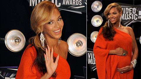 Überglückliche Beyonce: Baby wird im Februar kommen (Bild: EPA, AP)