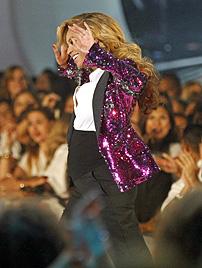 Überglückliche Beyonce: Baby wird im Februar kommen (Bild: AP)