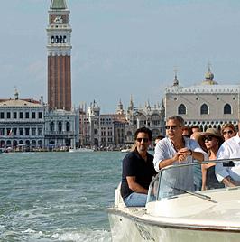 Filmfestspiele von Venedig starten mit relaxtem Clooney (Bild: EPA)