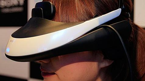 Futuristisches 3D-Display zum Aufsetzen von Sony