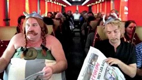 Depardieu dreht Pinkel-Eklat als Obelix im Film nach (Bild: Zoom.in)