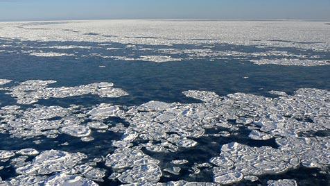 Arktis-Meereis heuer dramatisch geschrumpft (Bild: Christof Lüpkes, Alfred-Wegener-Institut)