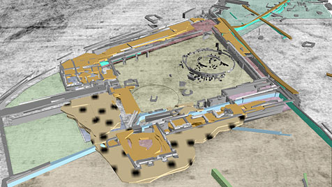 Erste Bilder der Gladiatorenschule in Carnuntum (Bild: LBI/ArchPro)