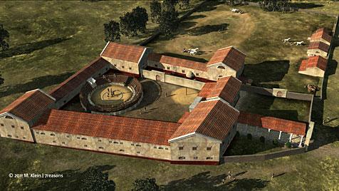 Erste Bilder der Gladiatorenschule in Carnuntum (Bild: APA/M. Klein/7Reasons)
