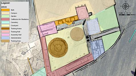 Erste Bilder der Gladiatorenschule in Carnuntum (Bild: APA/LBI ARCHPRO)