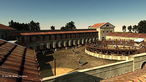 Erste Bilder der Gladiatorenschule in Carnuntum (Bild: M. Klein/7reasons)