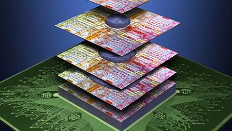 """Neuer Klebstoff soll """"Super-Prozessor"""" ermöglichen (Bild: IBM)"""