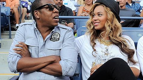 Beyonce Knowles mit Babybauch bei US-Open-Finale (Bild: AP, EPA)