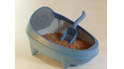Neue Katzentoilette verspricht: Nie wieder Katzenstreu! (Bild: Texocon/BLUE CAT)