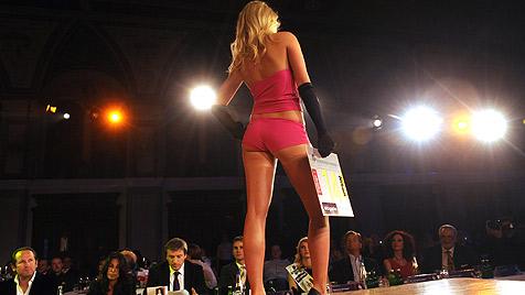 """So schön ist unsere nervöse """"Miss World""""-Kandidatin (Bild: APA-FOTO: HERBERT PFARRHOFER)"""