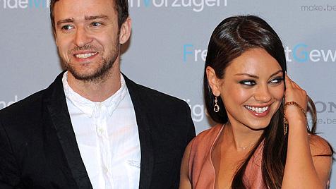 Timberlake und Kunis dementieren Nacktfotos (Bild: EPA)