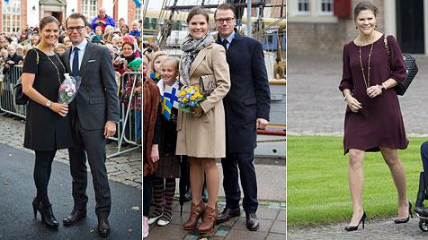 Babybauch auf High Heels - für Victoria ist das kein Problem (Bild: AP)