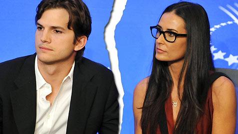 Ashton Kutcher und Demi Moore angeblich getrennt (Bild: AP)