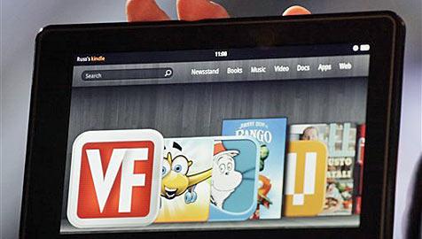 Verlage setzen große Hoffnung in Amazons Kindle Fire (Bild: AP)