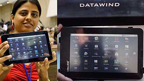 Indien stellt Android-Tablet für nur 45 Euro vor (Bild: AP)