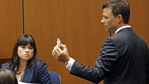 Michael Jacksons verzerrte Stimme im Gerichtssaal (Bild: AP)