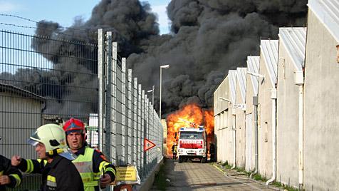 Großbrand im Marchfeld - 200 Helfer im Einsatz (Bild: APA/BFK GÄNSENRDORF)
