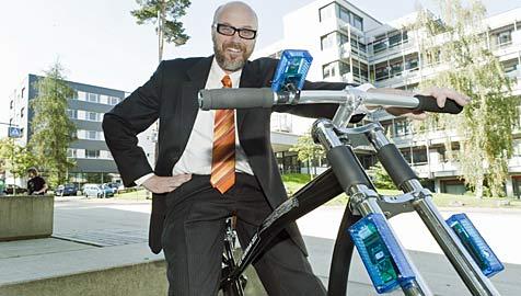Informatiker bauen drahtlose Fahrradbremse (Bild: Universität des Saarlandes/ Angelika Klein)