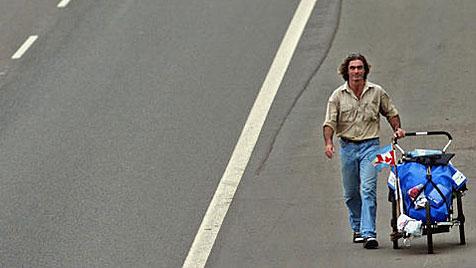 Kanadier wanderte in elf Jahren einmal um die Welt (Bild: AP)