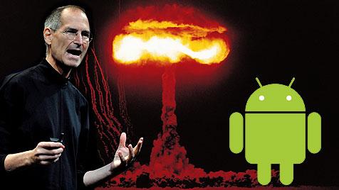"Steve Jobs wollte Googles Android ""vernichten"" (Bild: thinkstockphotos.de, EPA, Google)"
