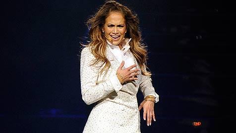 Jennifer Lopez lässt bei Konzert den Tränen freien Lauf (Bild: AP)