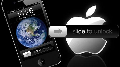 """Apple erhält Patent auf """"Slide to unlock"""" - Bald neue Klagen? (Bild: Apple, krone.at-Grafik)"""