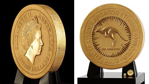 Größte Goldmünze der Welt in Sydney präsentiert (Bild: EPA)