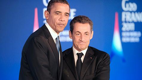 """""""Hoffentlich ähnelt Sarkozys Tochter später der Mutter"""" (Bild: EPA)"""