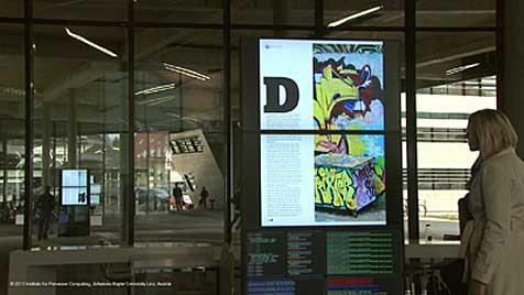 Werbedisplays aus Linz reagieren auf Betrachter (Bild: Institute for Pervasive Computing, JKU)