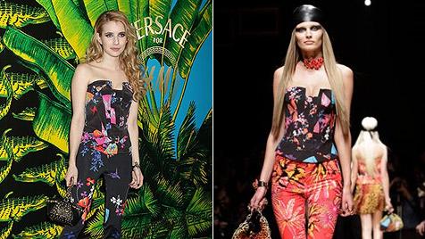 """Die Stars tragen die """"Versace für H&M""""-Kollektion bereits (Bild: AP)"""