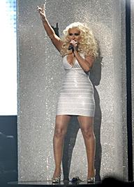 Christina Aguilera: Weniger ist nicht immer mehr (Bild: AP)